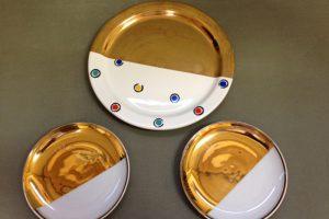 金加工を行った食器の製作事例